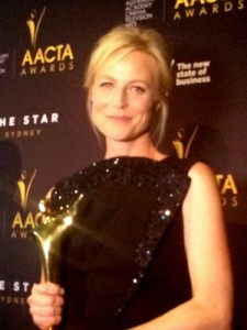 Marta Dusseldorp wins the 2015 AACTA Award for Best Lead Actress in a Television Drama